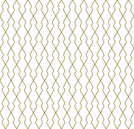 Seamless geometric pattern. Thin lines in brown color .Geometric background, graphic seamless pattern illustration. Rounded corners.