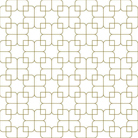 Seamless geometric ornament based on traditional islamic art.Brown color lines.Great design for fabric, textile, cover, wrapping paper, background. Fine lines.