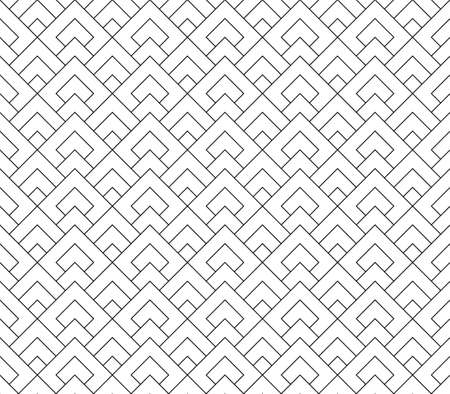 Seamless geometric pattern. Fine lines in black color .Geometric background, graphic seamless pattern illustration.