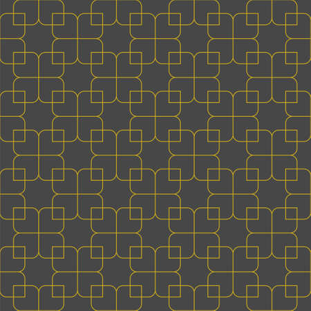 Seamless geometric ornament based on traditional islamic art.Brown color lines.Gray background.Great design for fabric, textile, cover, wrapping paper, background. Fine lines. Illusztráció