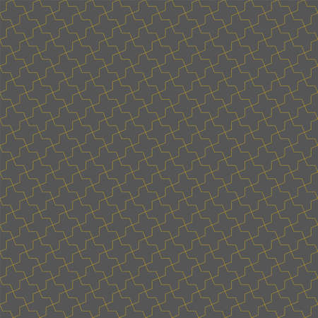 Seamless geometric ornament based on traditional islamic art.Brown color lines.Great design for fabric, textile, cover, wrapping paper, background. Fine lines.Gray background.