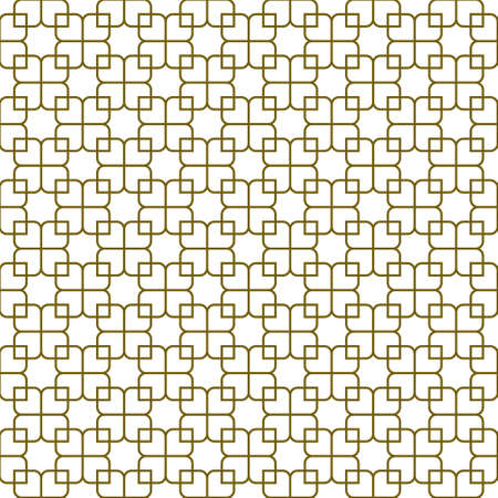 Seamless geometric ornament based on traditional islamic art.Brown color lines.Great design for fabric, textile, cover, wrapping paper, background. Average thickness lines.