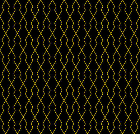 Seamless geometric pattern. Thin lines in brown color. Black background. Geometric background, graphic seamless pattern illustration. Partically rounded corners. Illusztráció