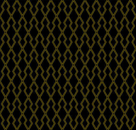 Seamless geometric pattern. Thin lines in brown color. Black background. Geometric background, graphic seamless pattern illustration.Contoured lines. Illusztráció