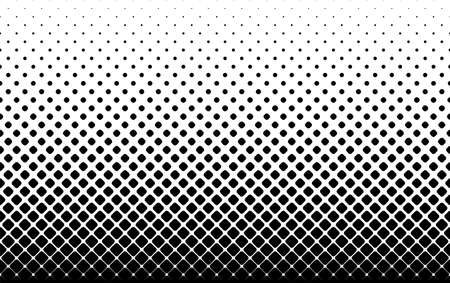 Seamless halftone vector background. Filled with black squares with rounded corners. 35 figures in height. Illusztráció
