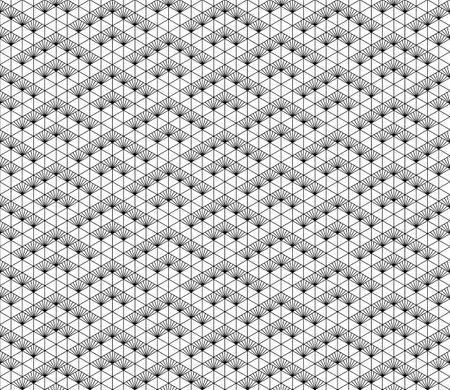 Japanese seamless Kumiko pattern in black and white.Average thickness lines. Illusztráció