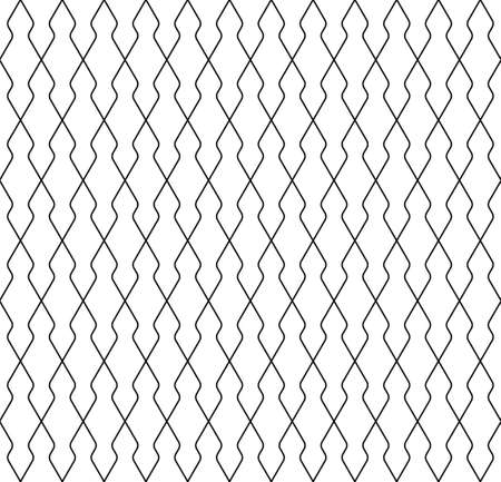 Seamless geometric pattern. Thin lines in black color .Geometric background, graphic seamless pattern illustration. Rounded corners.