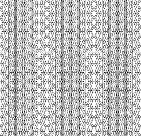Japanese seamless Kumiko pattern in black and white.Average thickness lines. Ilustração