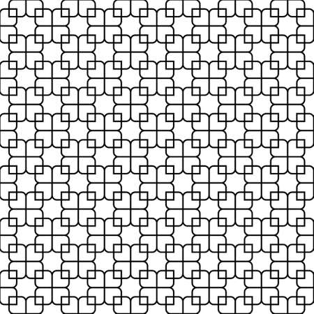 Seamless geometric ornament based on traditional islamic art.Black color lines.Great design for fabric, textile, cover, wrapping paper, background. Average thickness lines. Ilustração