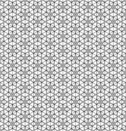 Japanese seamless pattern in black and white. Ilustração
