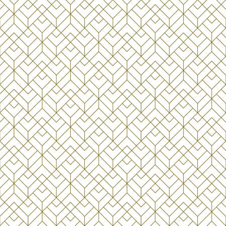Seamless geometric pattern. Average thickness lines. Brown color lines on white background.