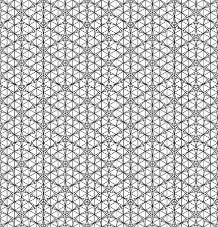 Japanese seamless pattern in black and white.Thin lines.