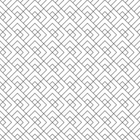 Seamless geometric pattern. Average thickness lines. Black color lines on white background.