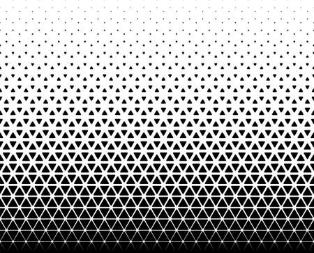 Seamless halftone vector background.Filled with black figures with rounded corners. 45 figures in height.A long transition of rhombuses in a circle. Ilustração