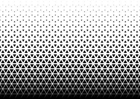 Seamless halftone vector background. Filled with black triangles. 40 figures in height.