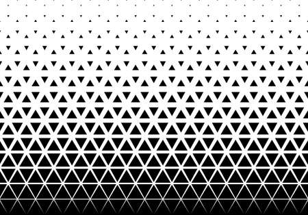 Seamless halftone vector background. Filled with black triangles. 28 figures in height. Ilustração