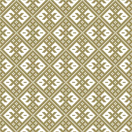 Seamless pattern based on Japanese traditiolal craft kogin .Circles.