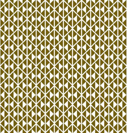 Seamless geometric pattern based on Japanese traditiolal craft kogin. Triangles. Çizim