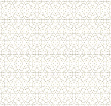 Seamless geometric ornament based on traditional islamic art.Brown color lines.Great design for fabric, textile, cover, wrapping paper, background.Fine lines.