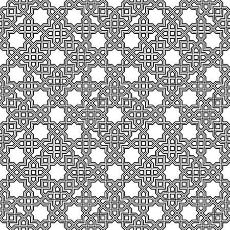Seamless geometric ornament based on traditional islamic art.Brown color lines.Great design for fabric, textile, cover, wrapping paper, background.Triple lines.