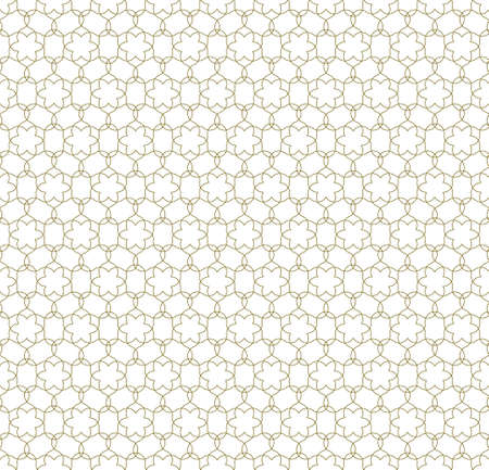 Seamless geometric ornament based on traditional islamic art.Brown color lines.Great design for fabric, textile, cover, wrapping paper, background.Thin lines. Çizim