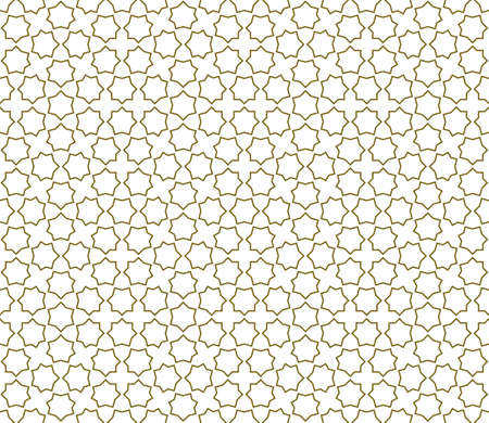 Seamless geometric ornament based on traditional islamic art.Brown color lines.Great design for fabric, textile, cover, wrapping paper, background. Çizim