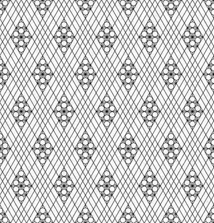 Seamless geometric pattern in Japanese tradition.Average thickness lines.