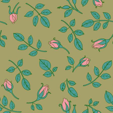 patrones de flores: Seamless floral pattern roses