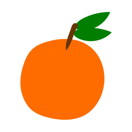 Orange hand drawn in Doodle style, cute vector
