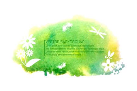 unicef: Acquerello colorato estate eco fondo per la progettazione. Vettore