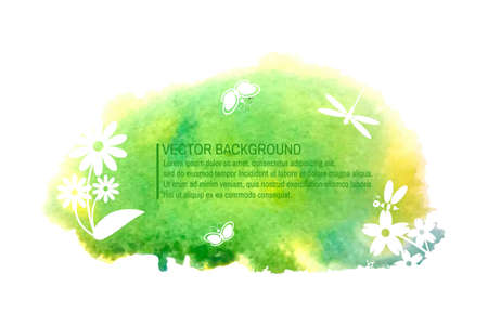 greenpeace: Watercolor colorful summer eco background for design. Vector