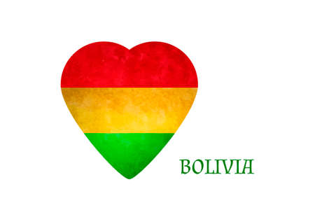 ethnical: Heart in national colours of Bolivia. Vector illustration