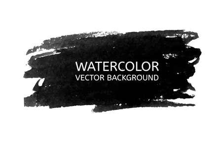 brush stroke: Vector Watercolor black for your design. Vector illustration Illustration