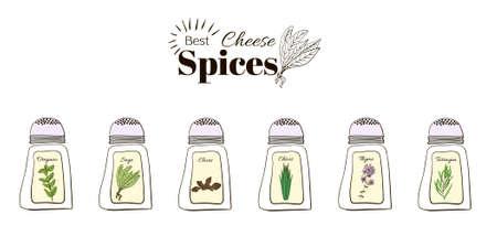 Miglior stagionatura per il formaggio. Un insieme di elementi di web design stand-alone su uno sfondo bianco