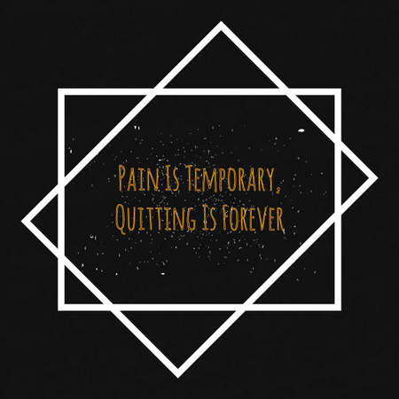 morale: Motivational Quote Typographical poster on a black background with drops of colored paint in a decorative white frame to lift the mood and morale.
