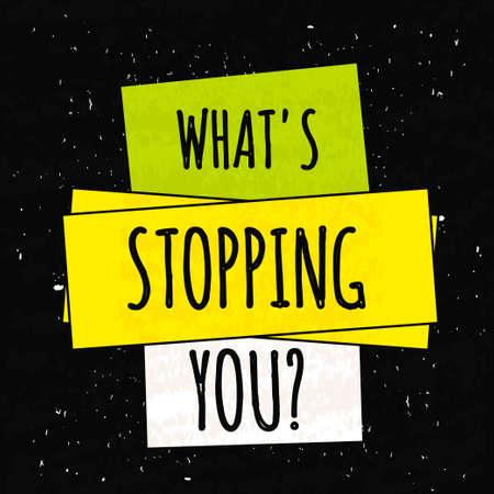 Colorido cartel de motivación tipográfica para elevar la fe en sí mismo y su fuerza. La serie de conceptos de negocio de edad en un fondo negro con textura. Foto de archivo - 50591389