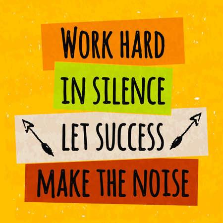 Colorido cartel de motivación tipográfica para elevar la fe en sí mismo y su fuerza. La serie de conceptos de negocio en un fondo texturizado de éxito. ilustración vectorial
