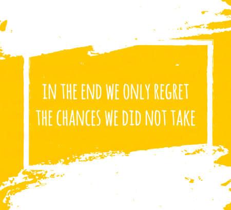 Kreative Typoplakat Handzeichnung in Form von Zitaten und Sätzen Moral und gute Stimmung zu heben sind in weißer Tinte Pinsel in gelben Textur geschrieben. Vektor-Illustration