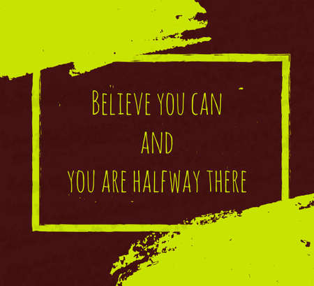 Creative typografische poster met de hand tekening in de vorm van citaten en zinnen om het moreel en goed humeur te verhogen zijn geschreven in groene inkt penseel in de donkere textuur. vector illustratie Stock Illustratie
