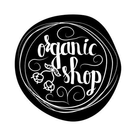 sell online: Creative typographic poster  for the online shops and supermarkets to sell 100 percent organic food. Vector illustration