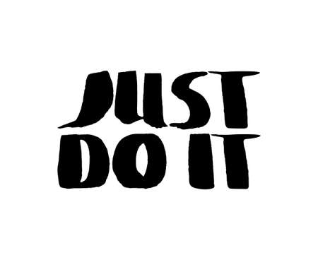 just do it: Stencil lettering quotes just do it isolated on a white background. Vector illustration