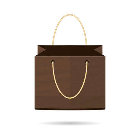 standalone: The template is a stand-alone package for shopping on a white background. Vector illustration