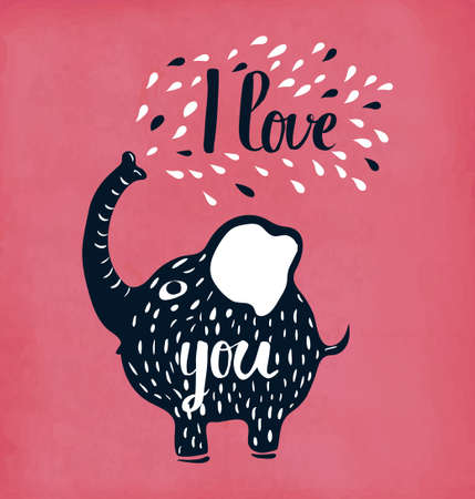 mutual: Retro hand lettering is a poster on mutual feelings of love. I love you. Vector illustration