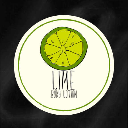 moisturizing: A set of labels with frames for beauty and health. Lime moisturizing lotion for body and hands. Vector