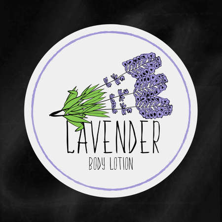 moisturizing: A set of labels with frames for beauty and health. Lavender moisturizing lotion for body and hands. Vector