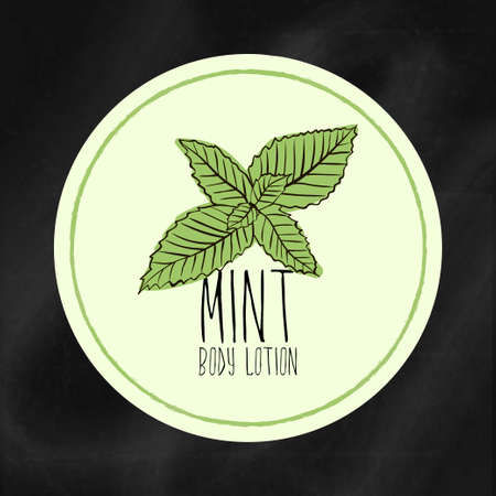 moisturizing: A set of labels with frames for beauty and health. Mint moisturizing lotion for body and hands. Vector