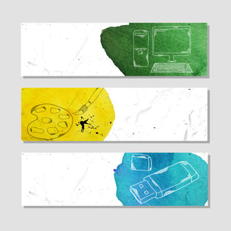 copywriter: Banners for advertising professional accessories for employees of design agencies.  illustration