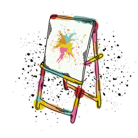 vector illustration of an easel for drawing it can be used as