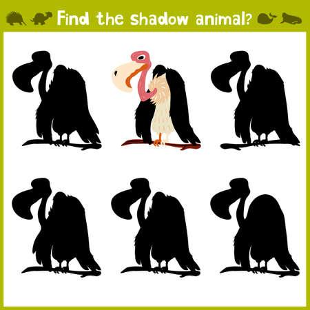 Educational game for children of kindergarten and school age on the development of logic. vulture. Vector illustration