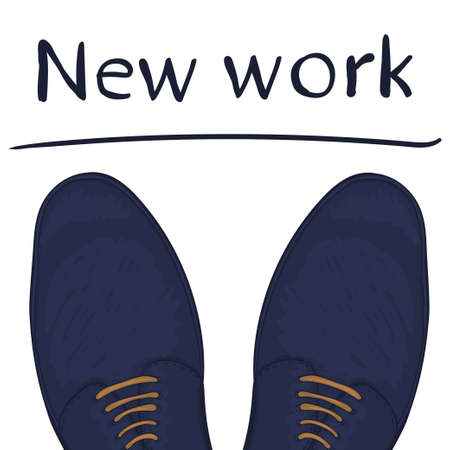 make a choice: Business concept a new job. Feet on the road. Make a choice. Vector illustration Illustration